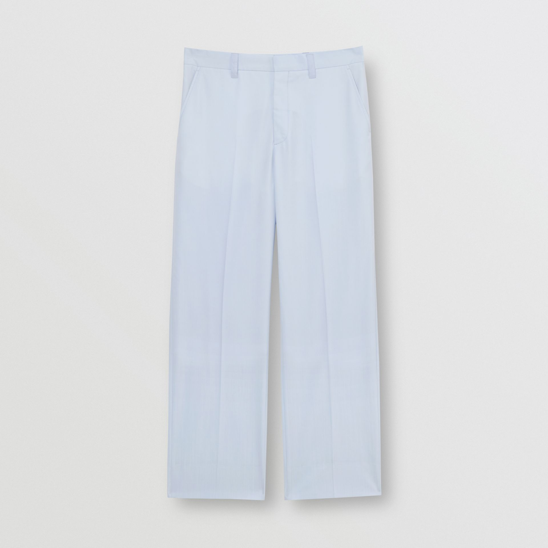 Tumbled Wool Wide-leg Trousers in Pale Blue - Men | Burberry Singapore - gallery image 3