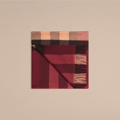 Burberry - Couverture en cachemire à motif check - 4