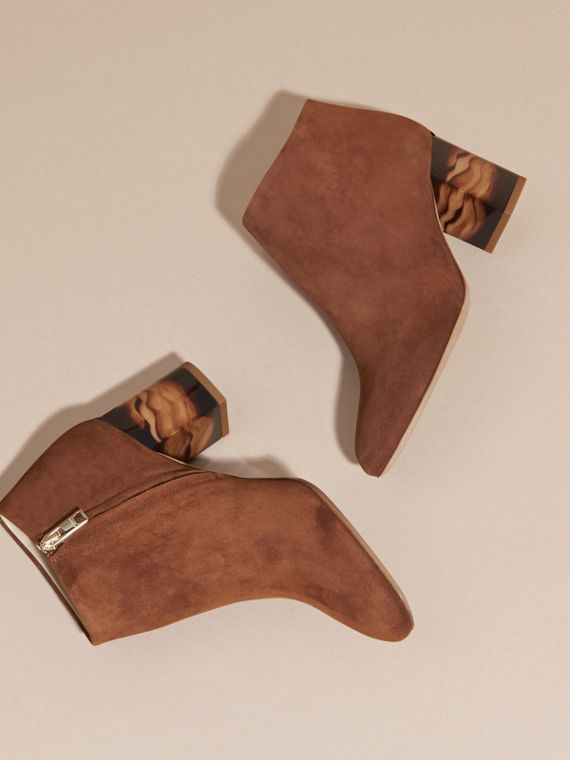 Clove brown Suede Ankle Boots - cell image 2