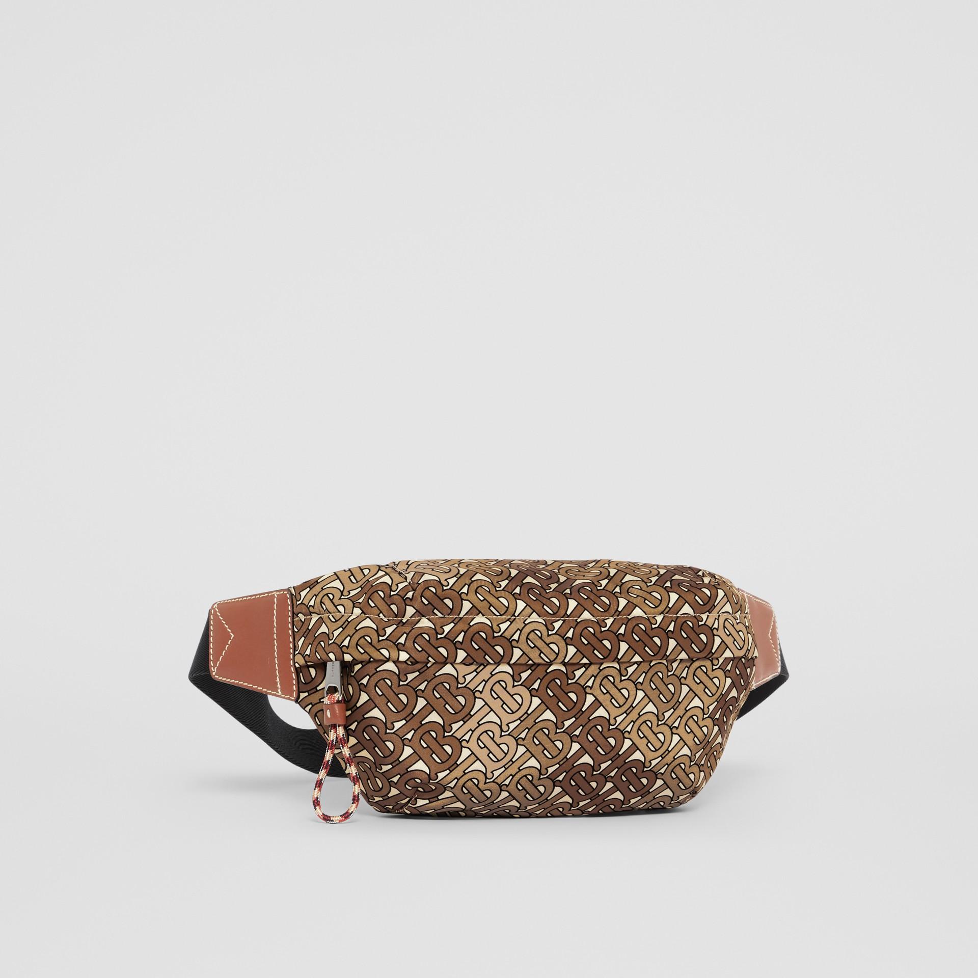 Medium Monogram Print Bum Bag in Camo Brown | Burberry United Kingdom - gallery image 8
