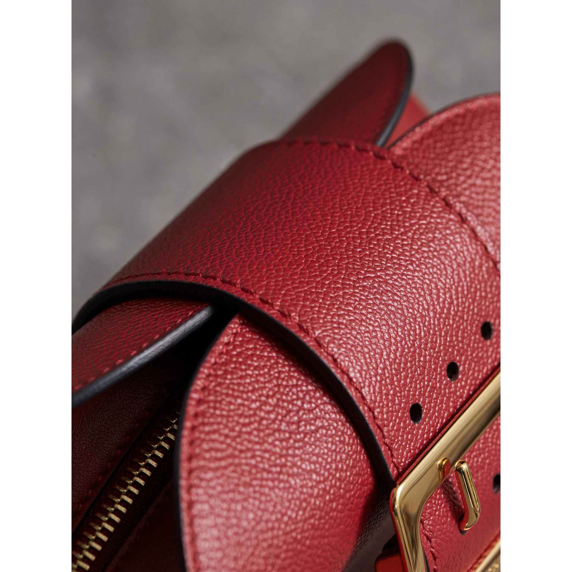 The Small Buckle Crossbody Bag in Leather in Parade Red - Women | Burberry - gallery image 2