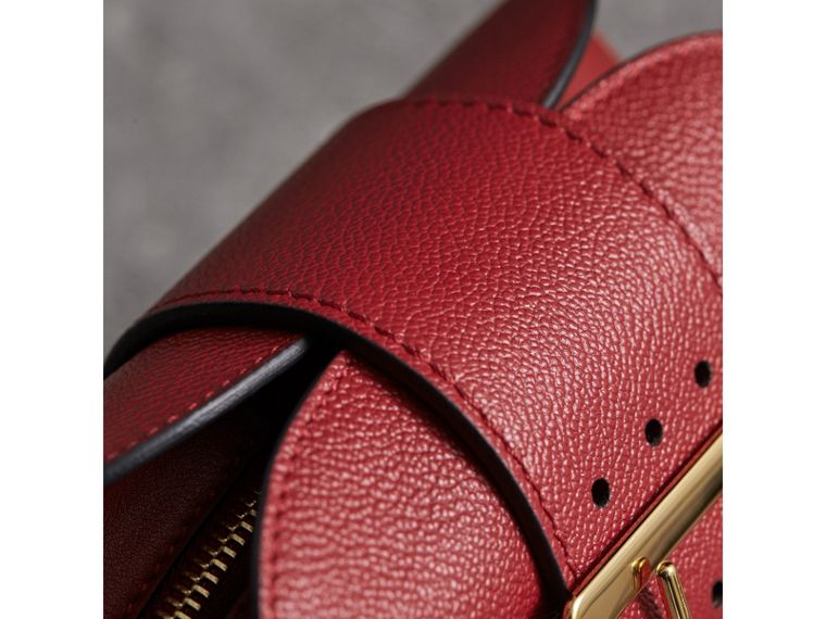 The Small Buckle Crossbody Bag in Leather in Parade Red - Women | Burberry - cell image 1