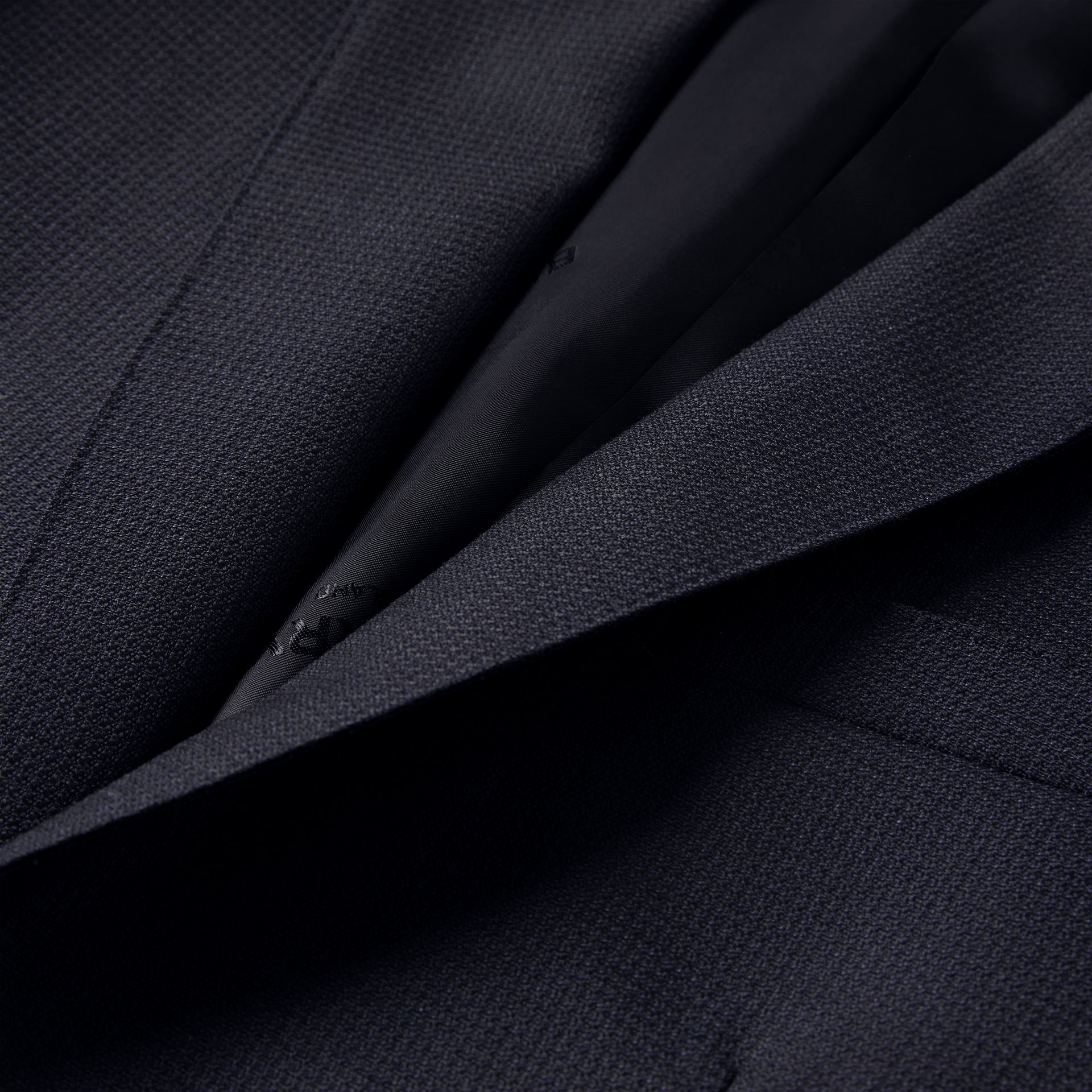 English Fit Triple Stud Wool Mohair Tailored Jacket in Midnight Blue - Men | Burberry - gallery image 6
