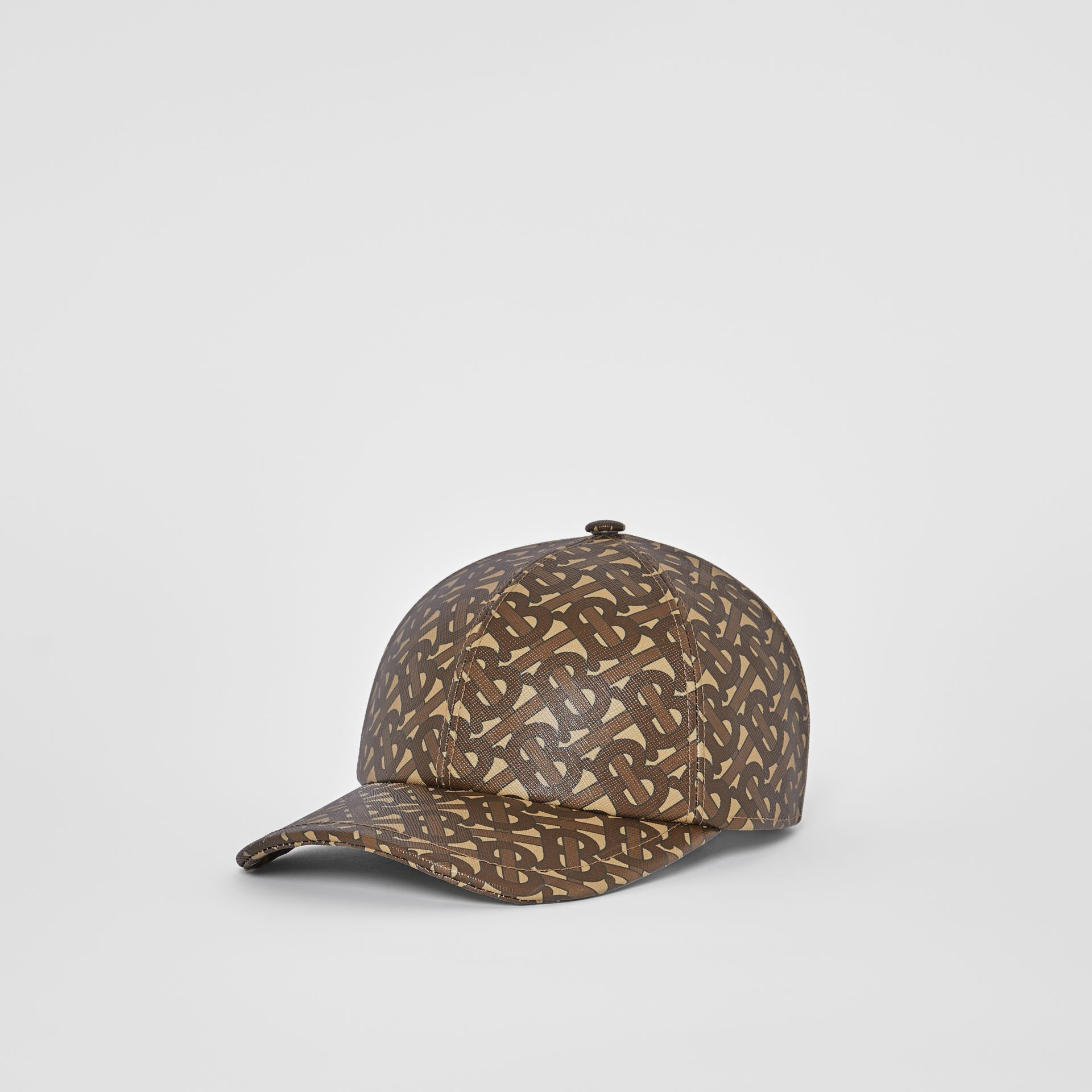 Monogram Print Baseball Cap in Bridle Brown | Burberry United Kingdom - gallery image 5