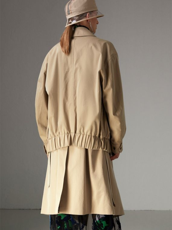 Tropical Gabardine Reconstructed Harrington Jacket in Honey - Women | Burberry - cell image 2