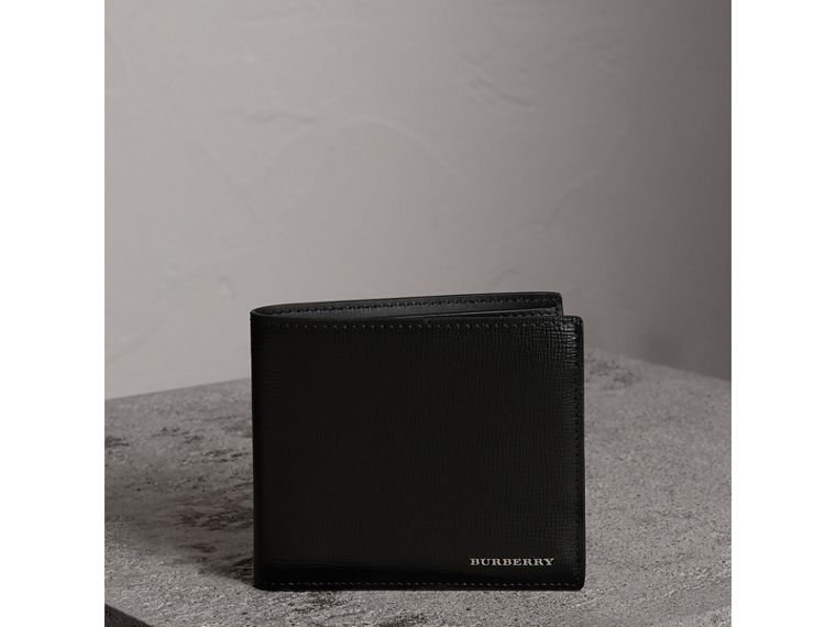 London Leather International Bifold Wallet in Black | Burberry United Kingdom - cell image 4