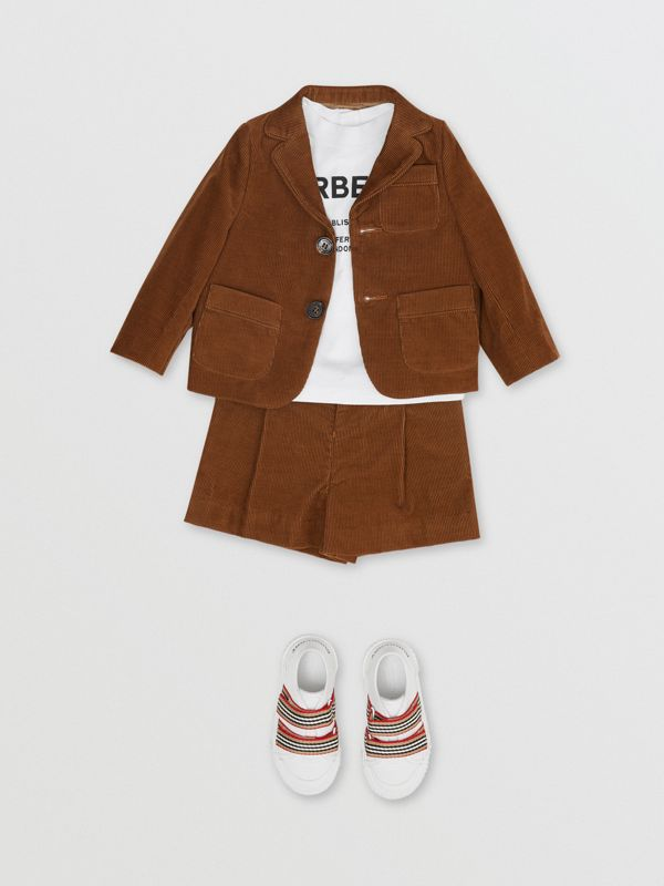 Corduroy Tailored Shorts in Camel | Burberry - cell image 2