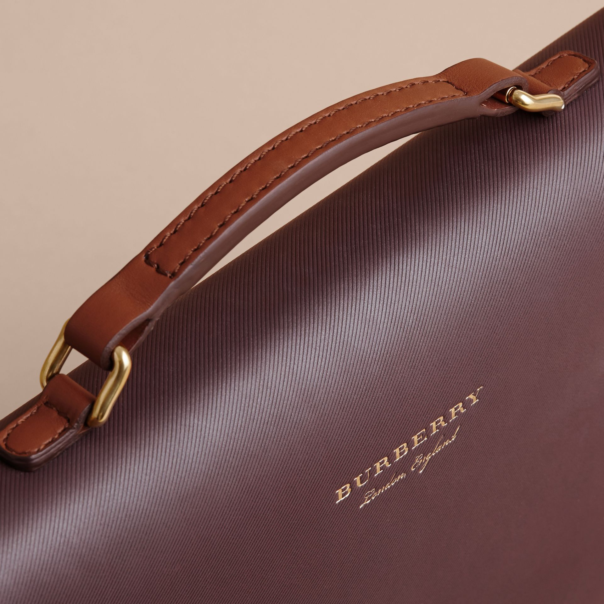 The DK88 Portfolio Case in Wine - Men | Burberry - gallery image 2