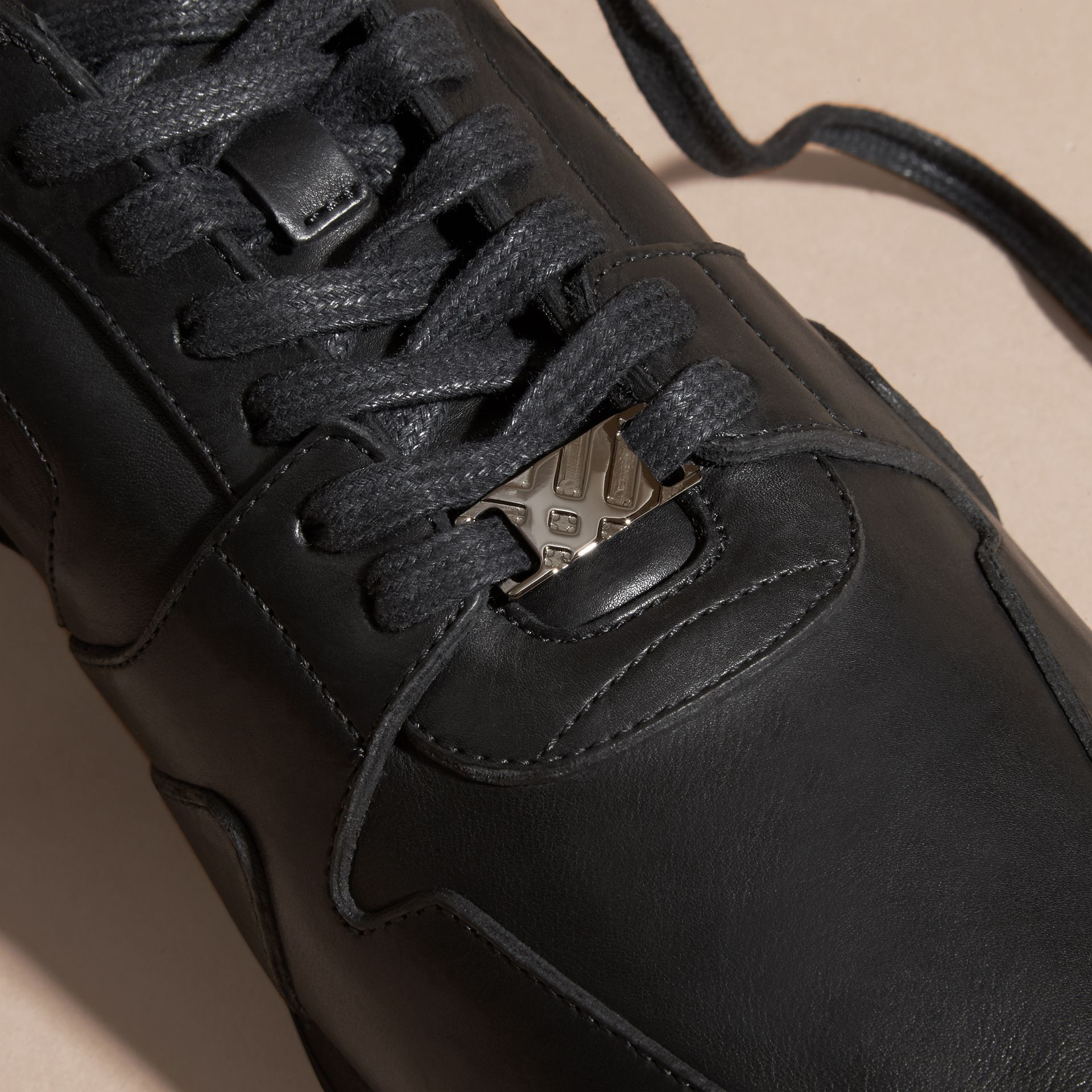 Black The Field Sneaker in Leather Black - gallery image 2
