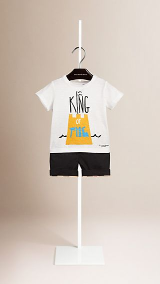 Sandcastle Graphic Cotton T-shirt