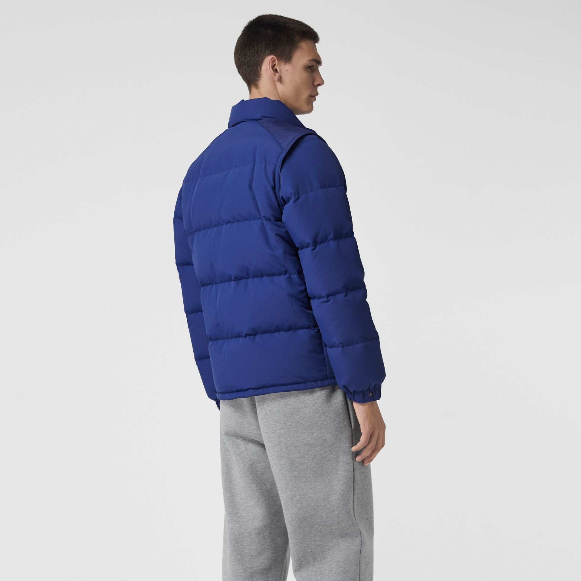 Detachable-sleeve Down-filled Puffer Jacket in Bright Blue - Men | Burberry United States - gallery image 2