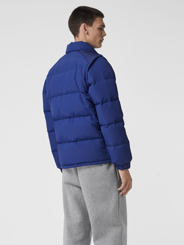 Detachable-sleeve Down-filled Puffer Jacket in Bright Blue - Men | Burberry - cell image 2