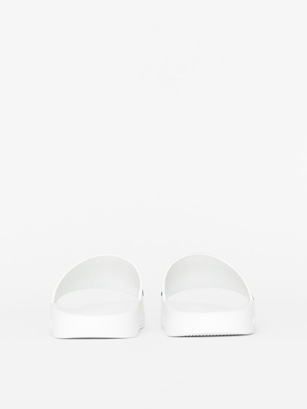 Kingdom Motif Slides in Optic White - Women | Burberry - cell image 3