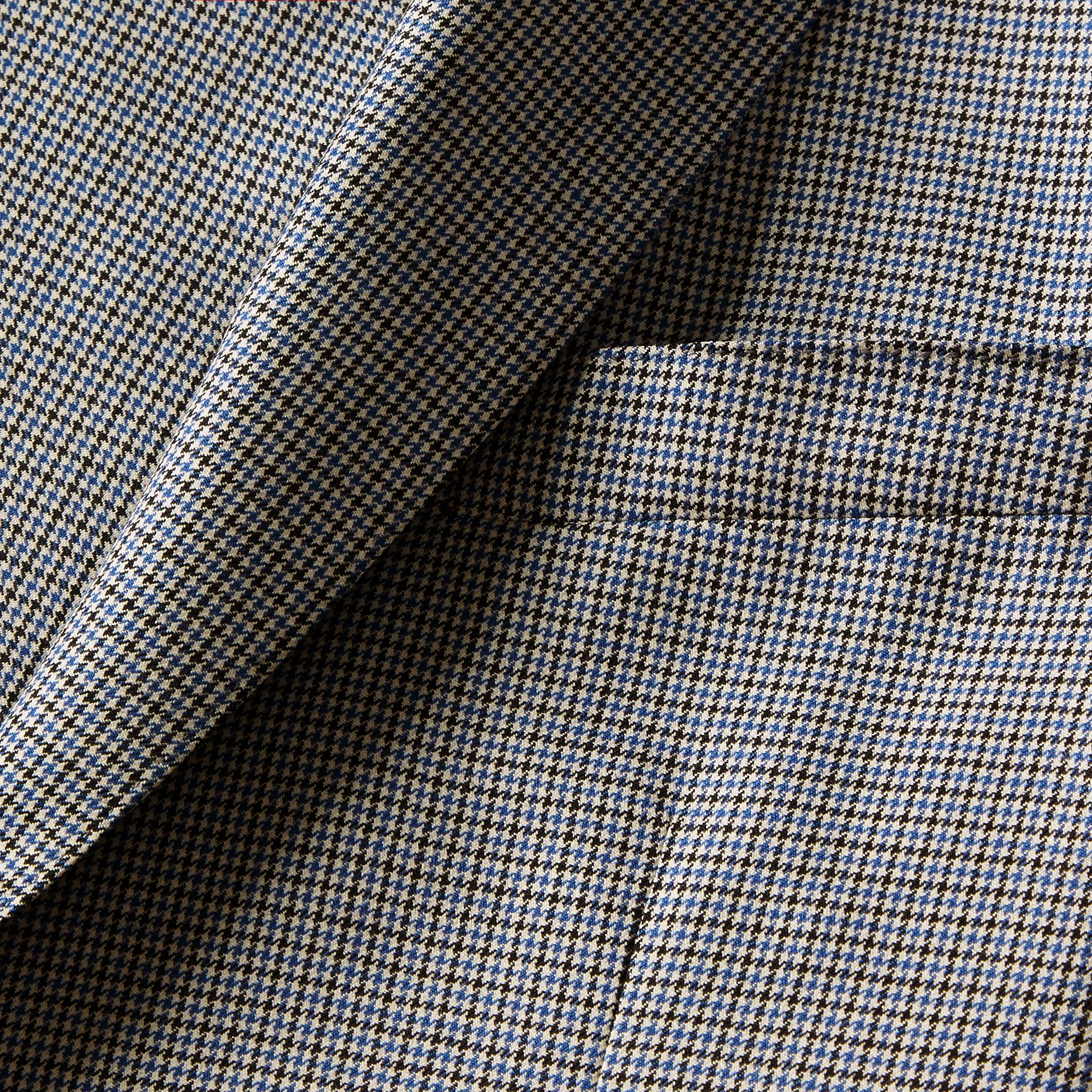 Slim Fit Houndstooth Wool Tailored Jacket - Men | Burberry - gallery image 2