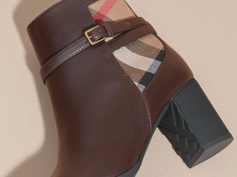 Chestnut House Check and Leather Ankle Boots - cell image 4