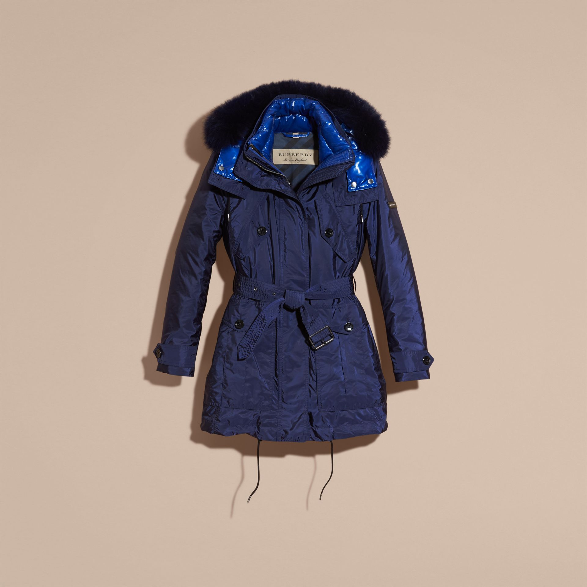 Ink blue Fur-trimmed Parka with Detachable Down-filled Jacket Ink Blue - gallery image 4