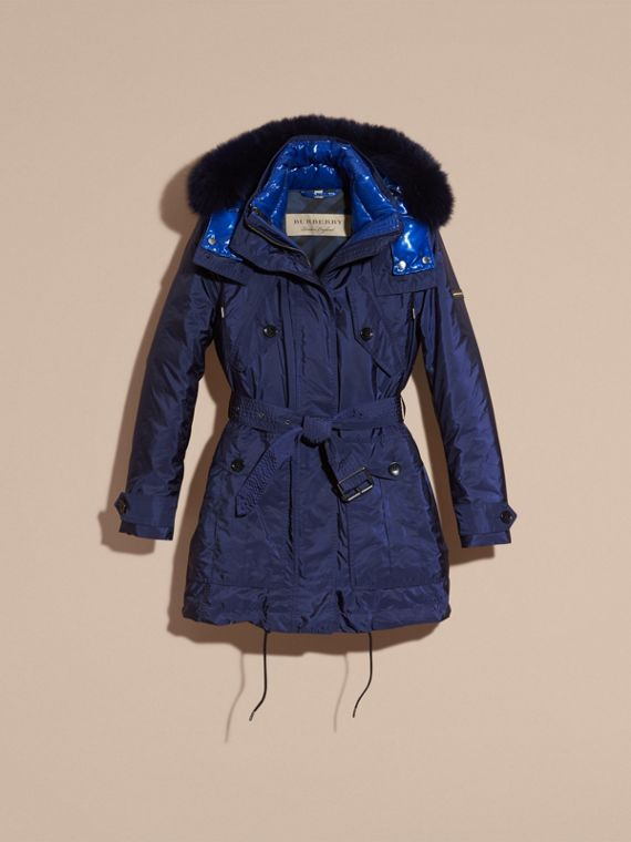Ink blue Fur-trimmed Parka with Detachable Down-filled Jacket Ink Blue - cell image 3