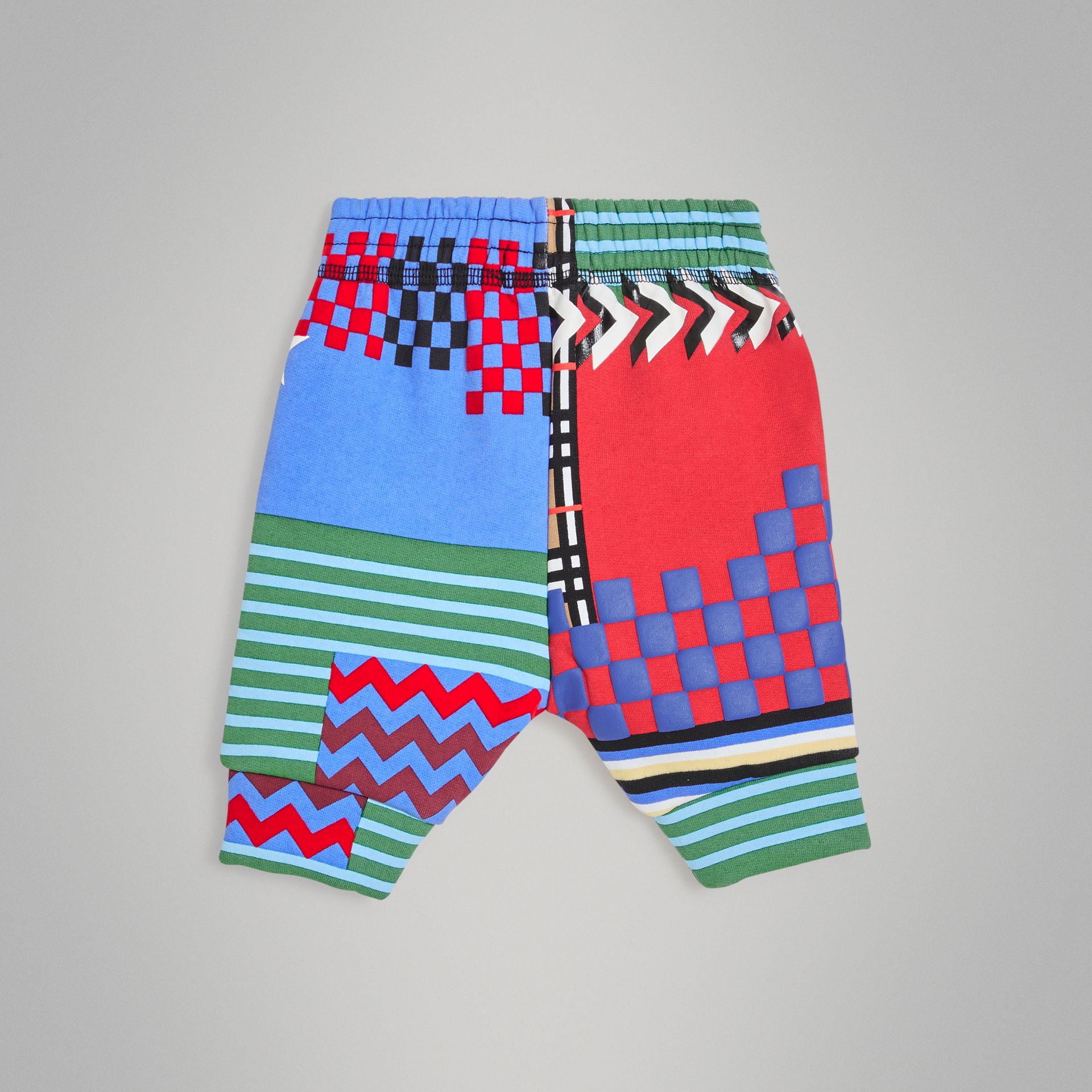 Pantalon de survêtement en jersey à imprimé graphique (Multicolore) - Enfant | Burberry - photo de la galerie 3