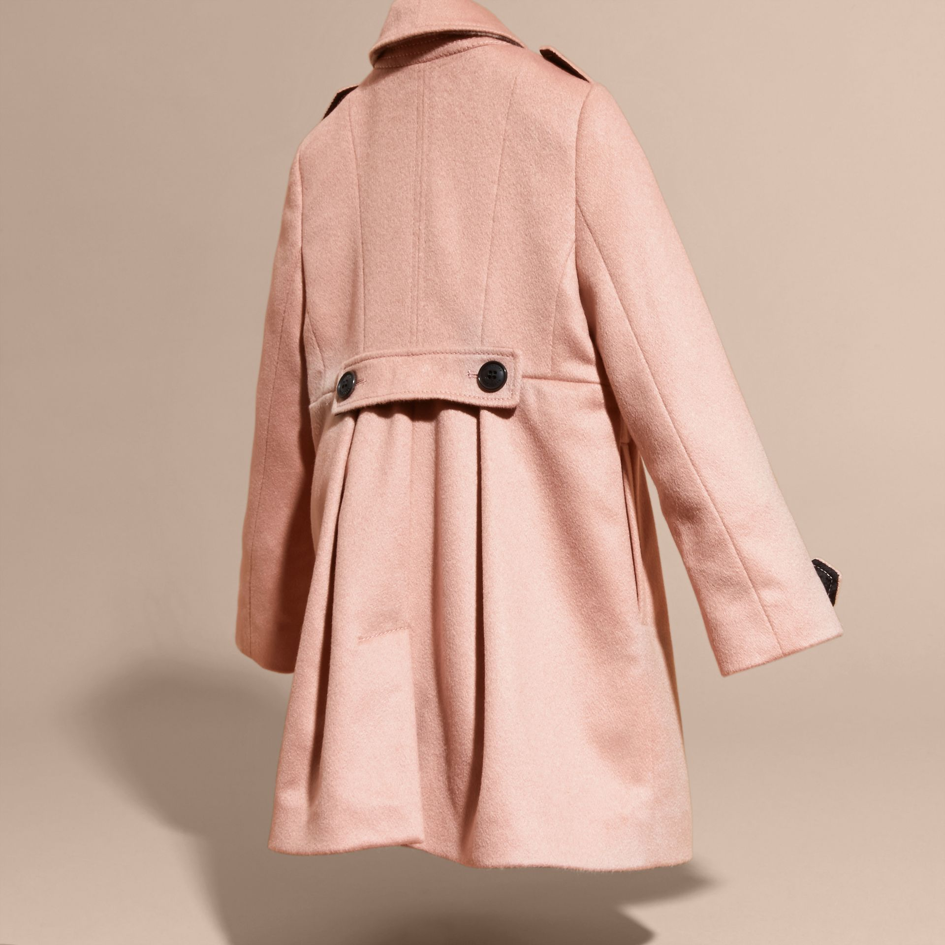 Chalk pink Cashmere Military Coat Chalk Pink - gallery image 4