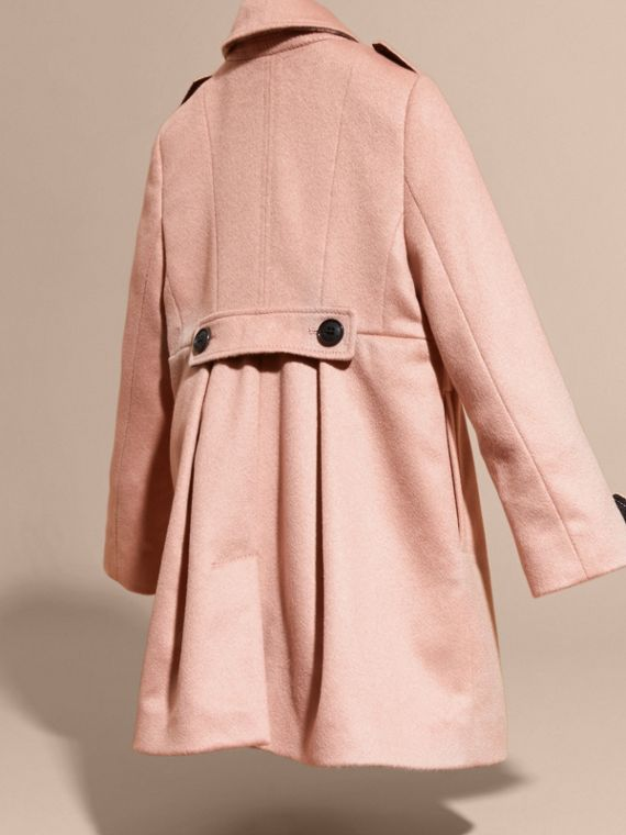 Chalk pink Cashmere Military Coat Chalk Pink - cell image 3