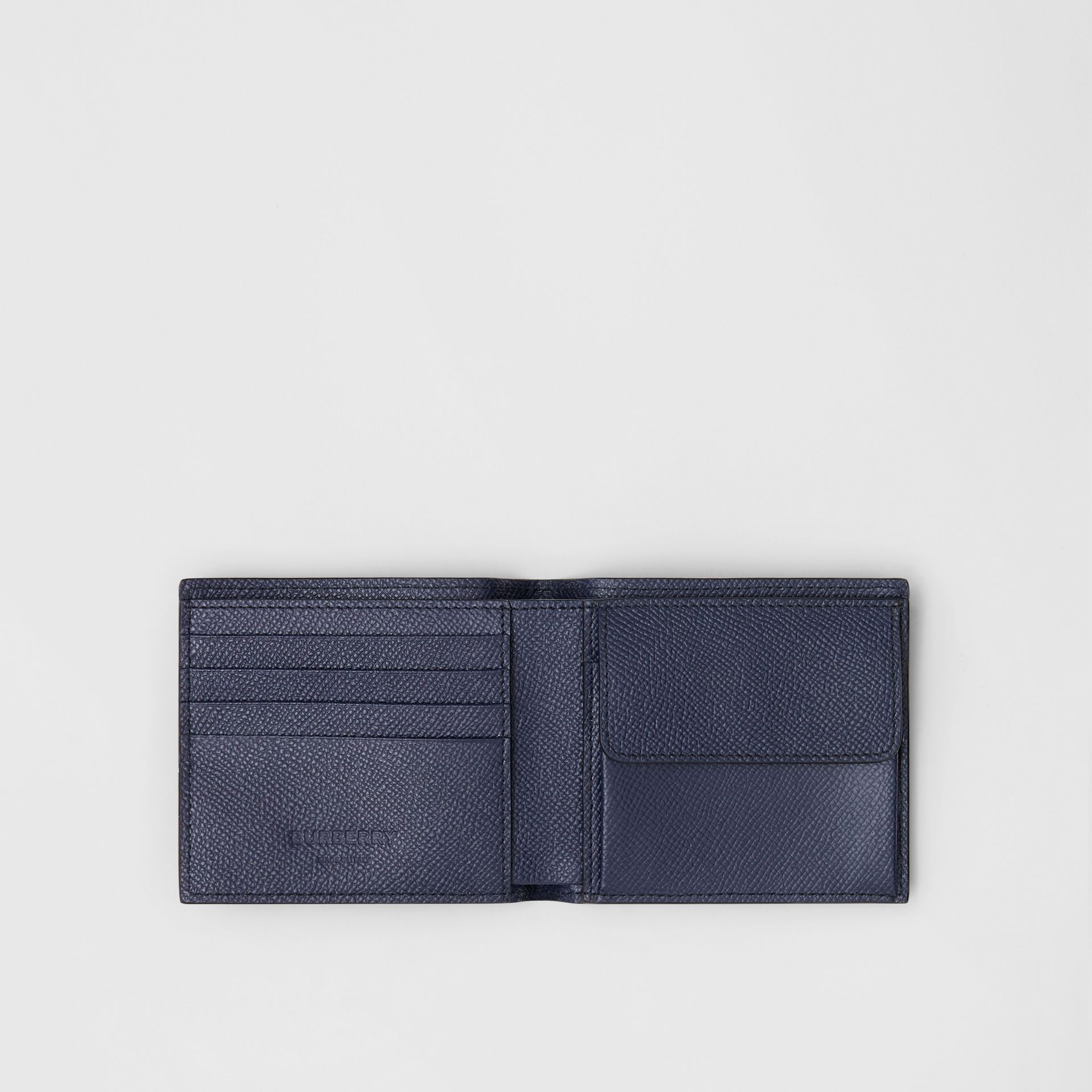 Grainy Leather International Bifold Coin Wallet in Regency Blue - Men | Burberry - gallery image 2