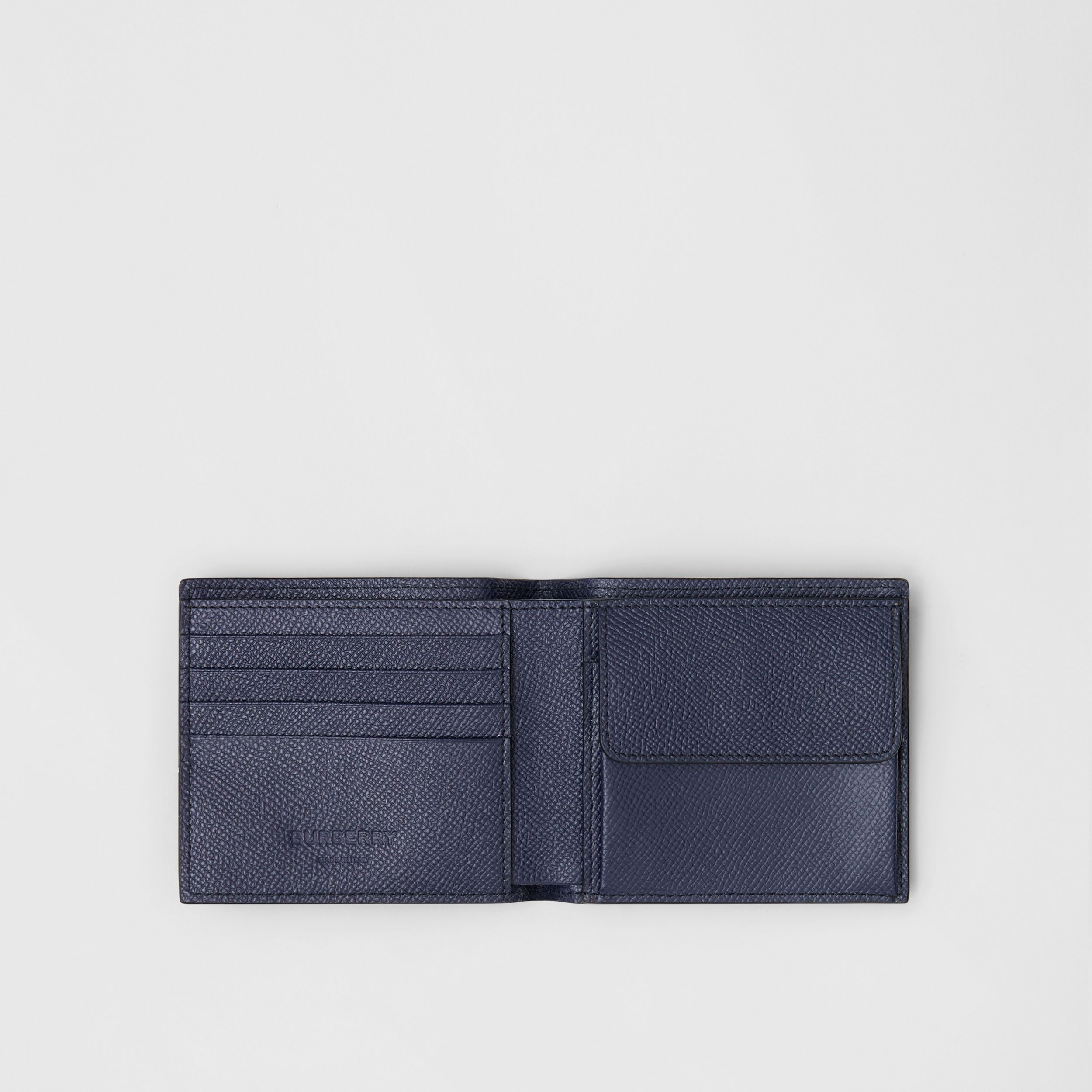 Grainy Leather International Bifold Coin Wallet in Regency Blue - Men | Burberry - 3