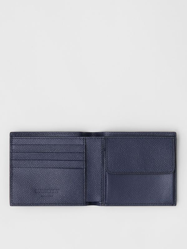 Grainy Leather International Bifold Coin Wallet in Regency Blue - Men | Burberry - cell image 2