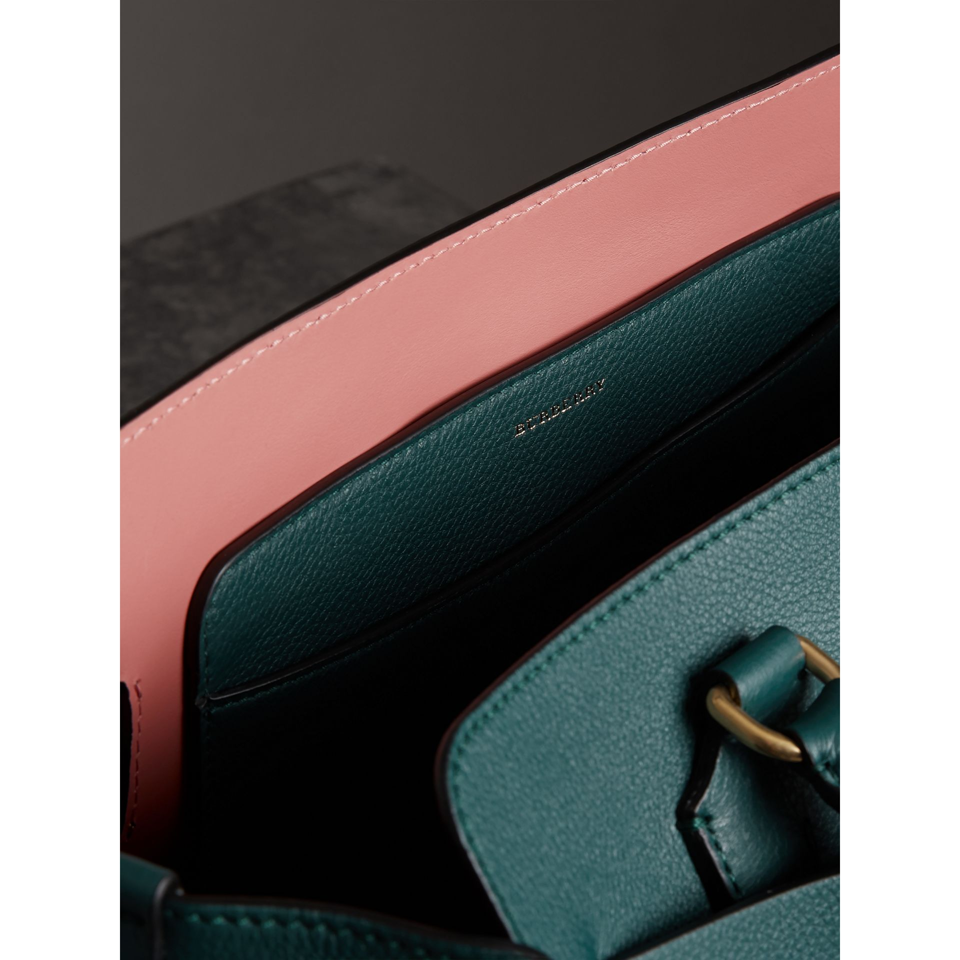 The Medium Leather Belt Bag in Dark Cyan - Women | Burberry - gallery image 2