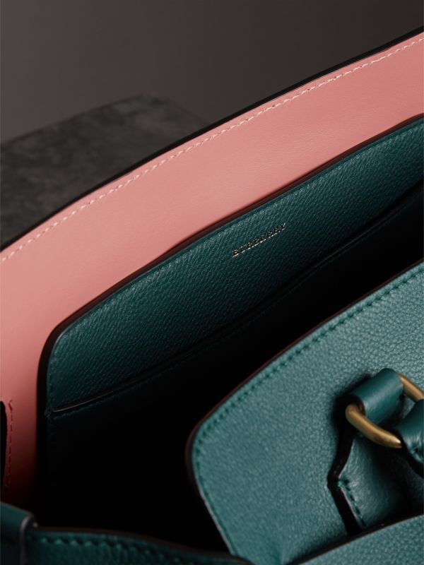 The Medium Leather Belt Bag in Dark Cyan - Women | Burberry - cell image 2