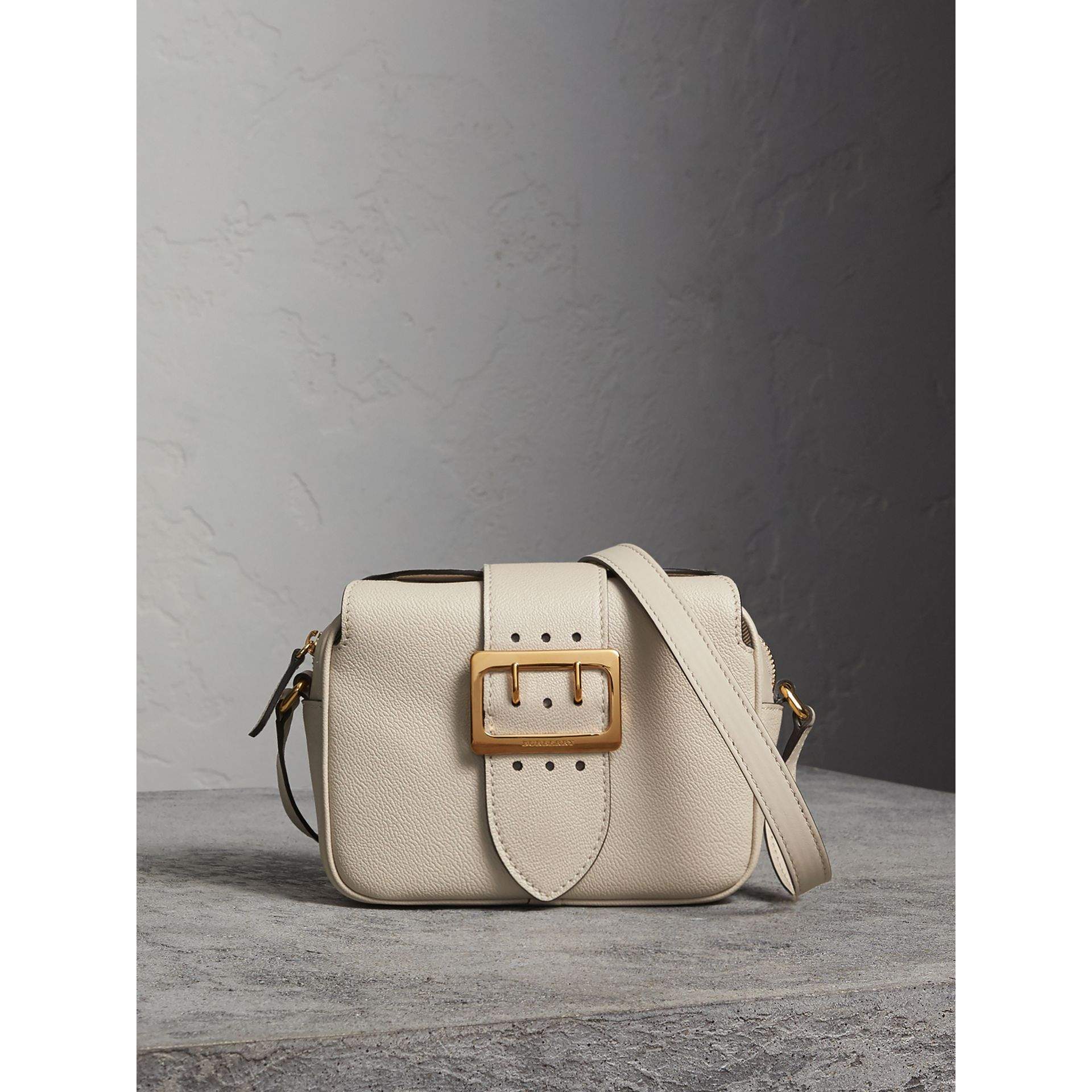 The Small Buckle Crossbody Bag in Leather in Limestone - Women | Burberry - gallery image 1