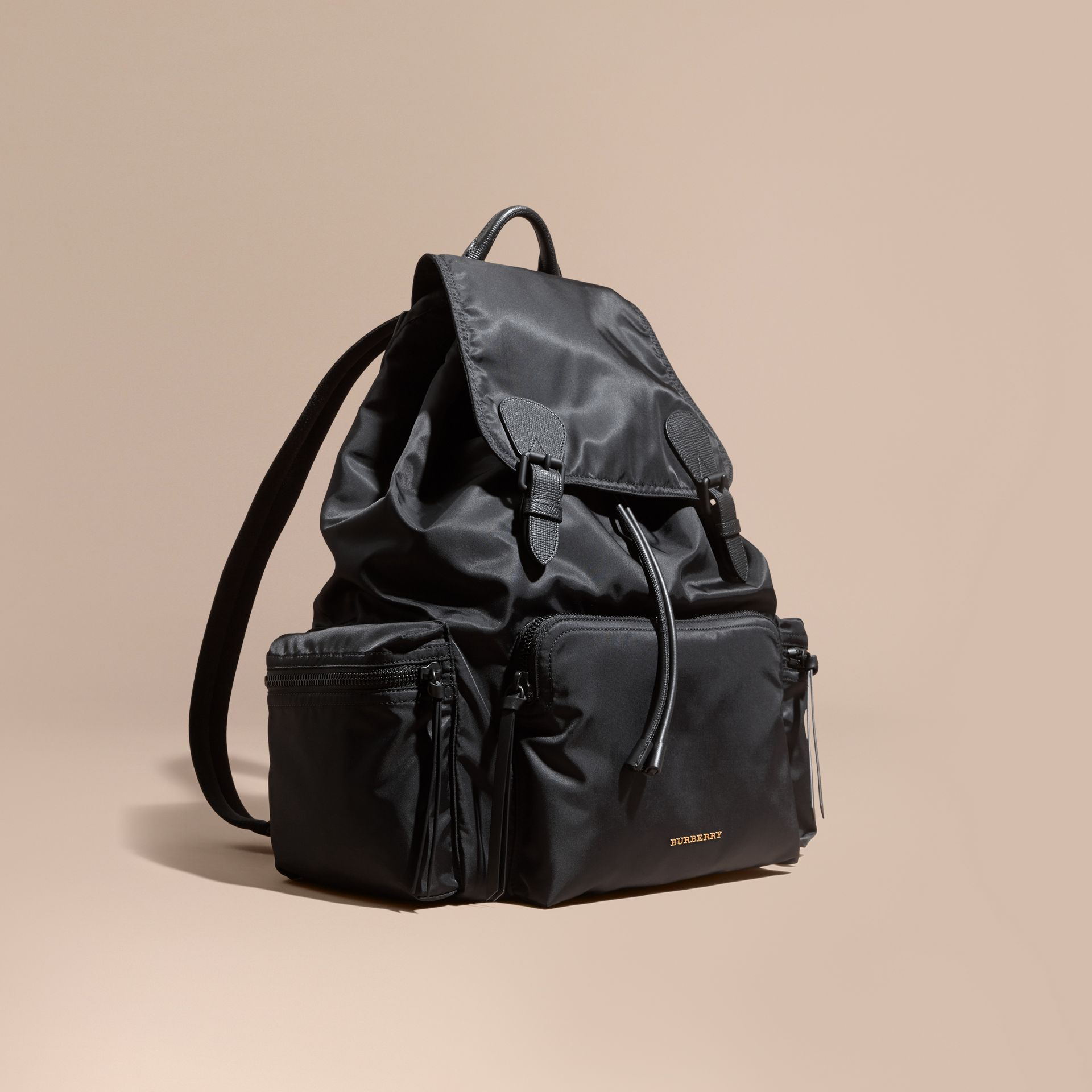 The Extra Large Rucksack in Technical Nylon and Leather - gallery image 1