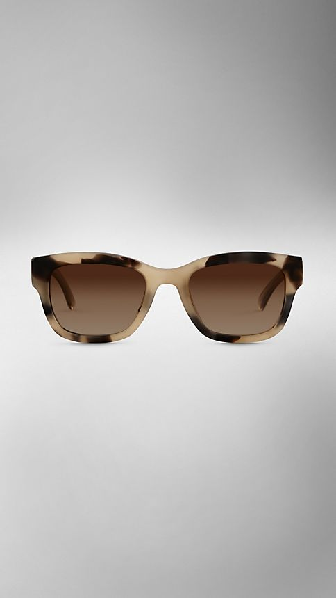 Mid tone horn Trench Collection Square Frame Sunglasses - Image 2