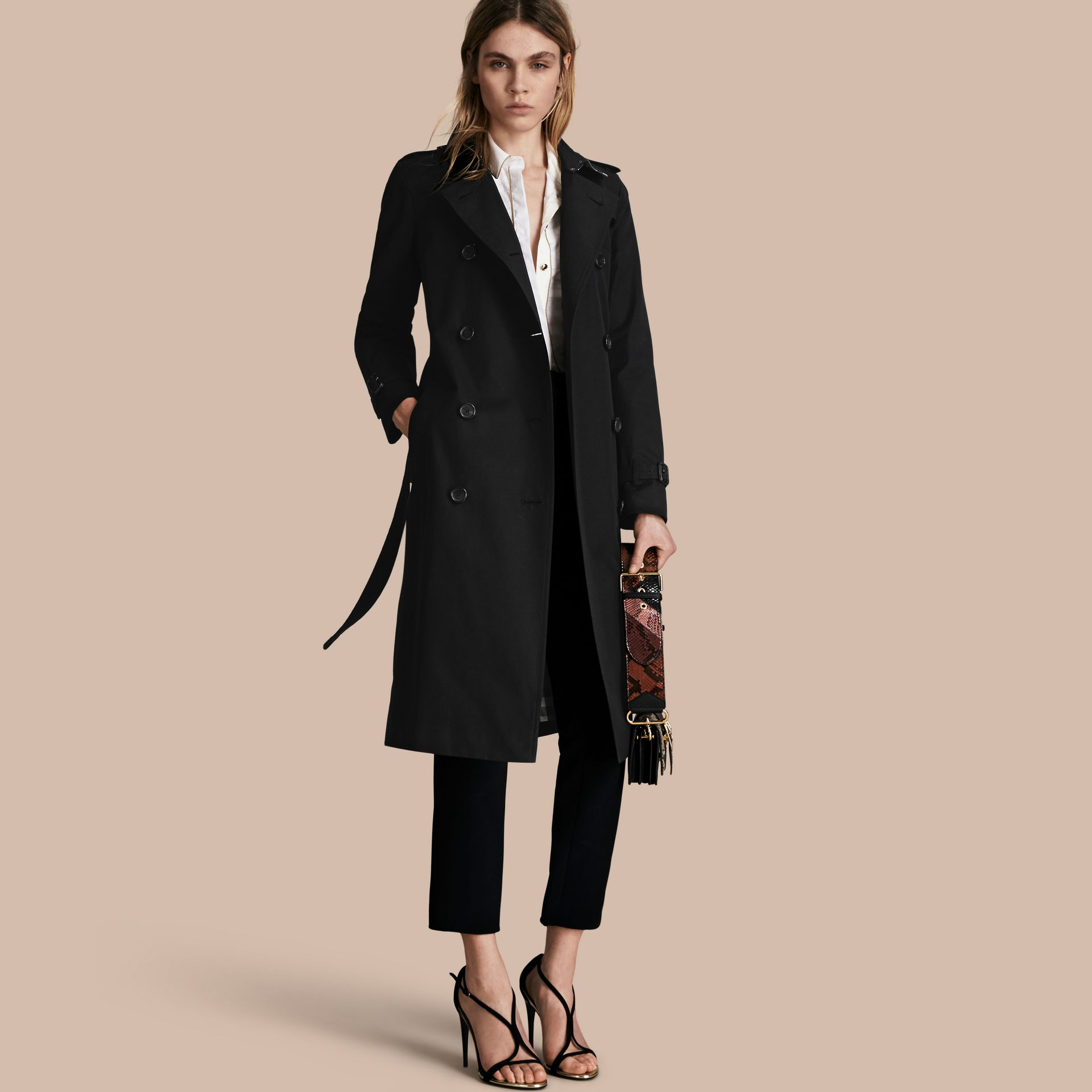 Black The Kensington – Extra-long Heritage Trench Coat Black - gallery image 1