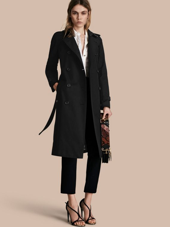 The Kensington - Trench coat Heritage extra longo Preto