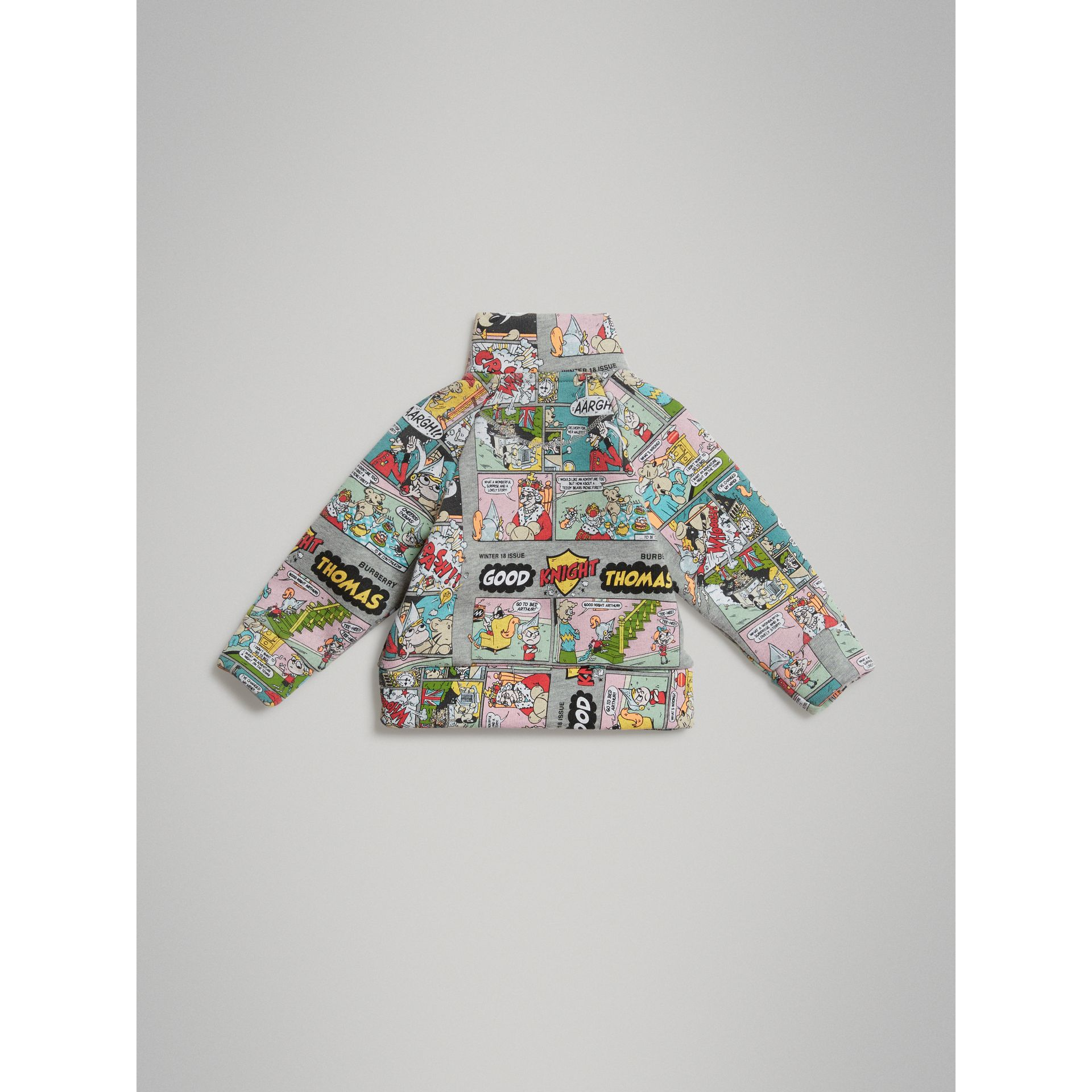 Comic Strip Print Cotton Track Top in Miscellaneous - Children | Burberry Singapore - gallery image 3
