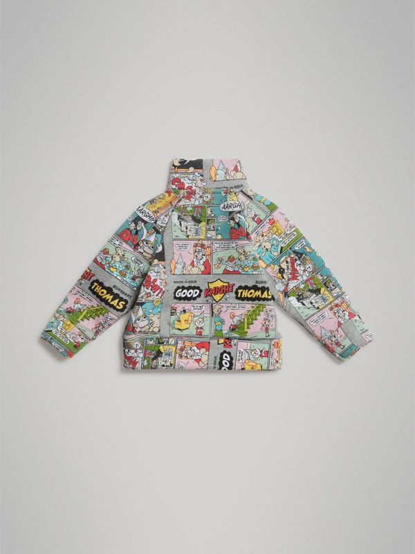 Comic Strip Print Cotton Track Top in Miscellaneous - Children | Burberry - cell image 3