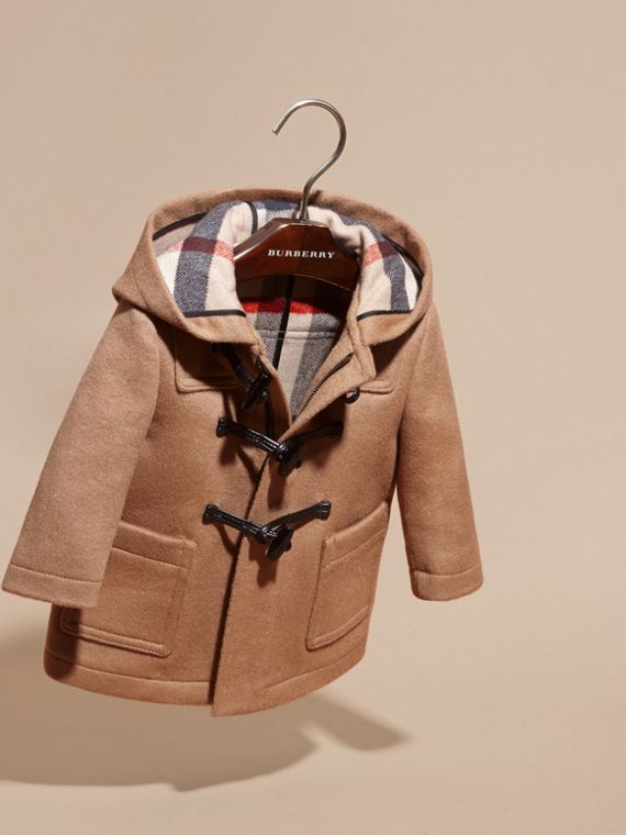 Wool Duffle Coat in New Camel | Burberry Singapore - cell image 2