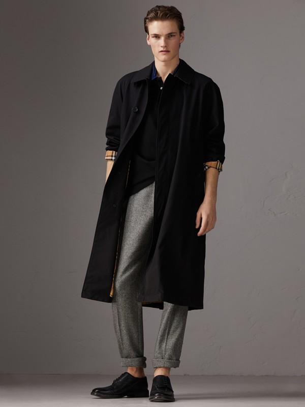 Polo in cotone piqué con dettaglio lavorato a maglia (Nero) - Uomo | Burberry - cell image 3