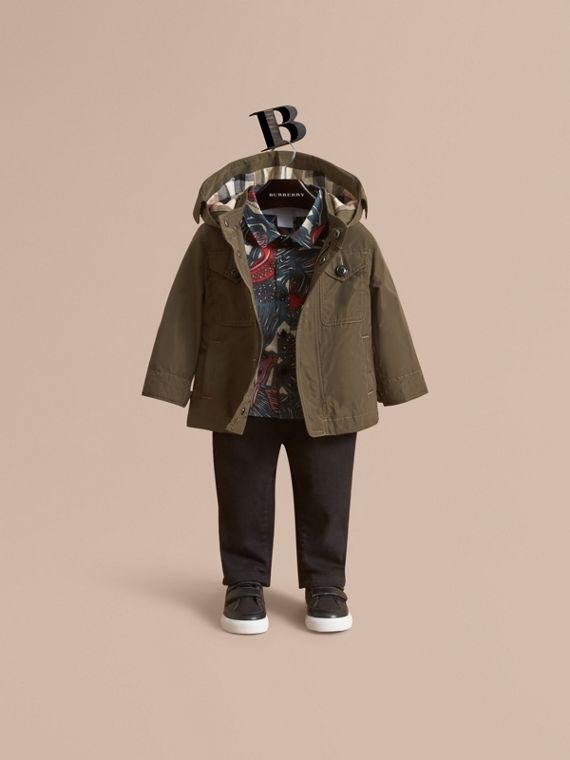 Hooded Lightweight Shape-Memory Field Jacket - Children | Burberry