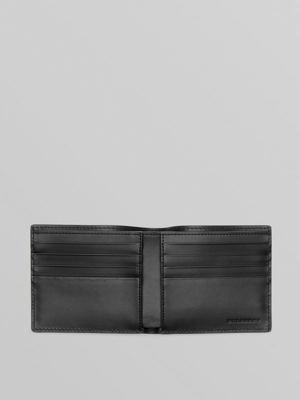 Perforated Logo Leather International Bifold Wallet in Optic White - Men | Burberry Australia - cell image 3