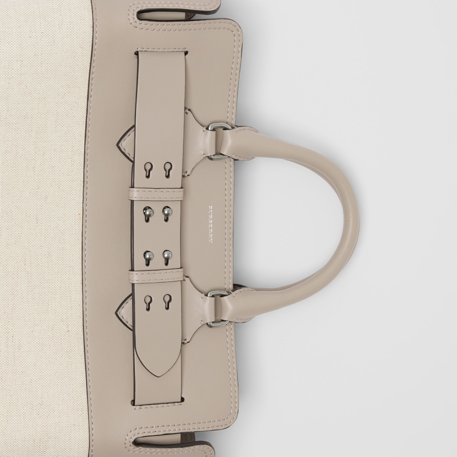 The Medium Canvas and Leather Belt Bag in Grey/stone - Women | Burberry - gallery image 1