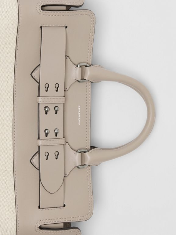 The Medium Canvas and Leather Belt Bag in Grey/stone - Women | Burberry - cell image 1