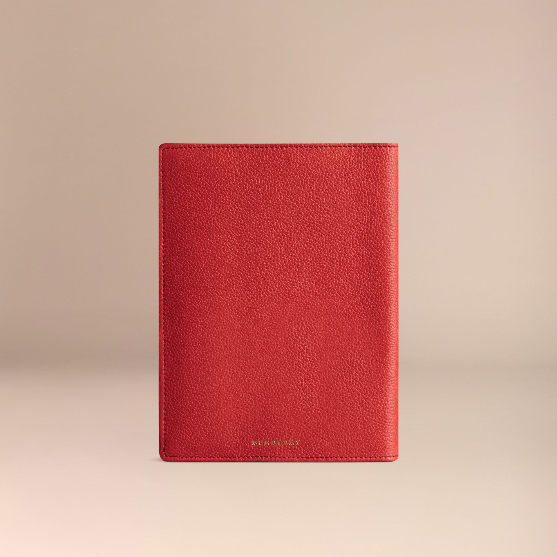 Grainy Leather 18 Month 2016/17 A5 Diary in Orange Red | Burberry - gallery image 3
