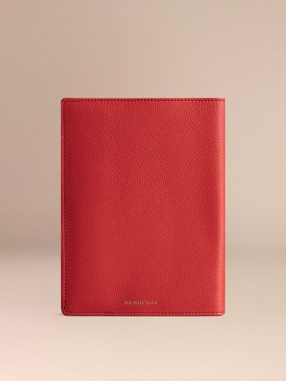 Grainy Leather 18 Month 2016/17 A5 Diary in Orange Red | Burberry - cell image 2