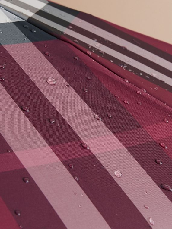 Check Folding Umbrella in Plum - Women | Burberry - cell image 2