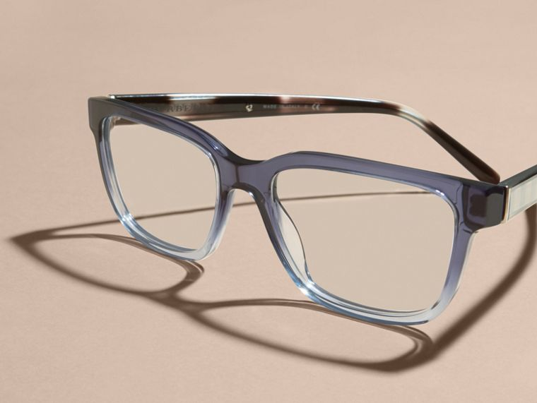 Check Detail Rectangular Optical Frames Blue - cell image 4