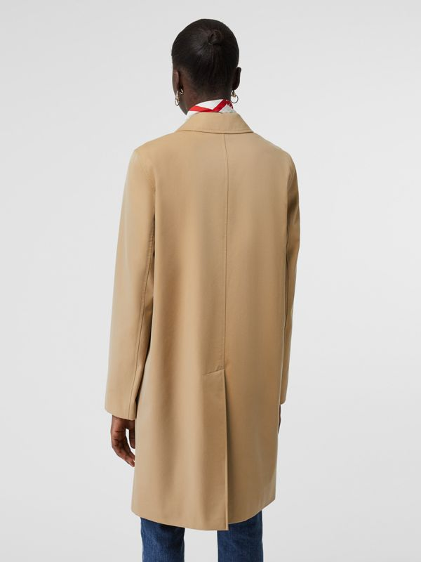 Press-stud Detail Cotton Gabardine Car Coat in Honey - Women | Burberry - cell image 2