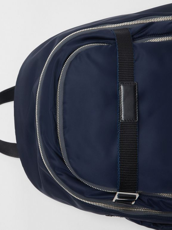 Large EKD Aviator Nylon Backpack in Ink Blue - Men | Burberry United States - cell image 1