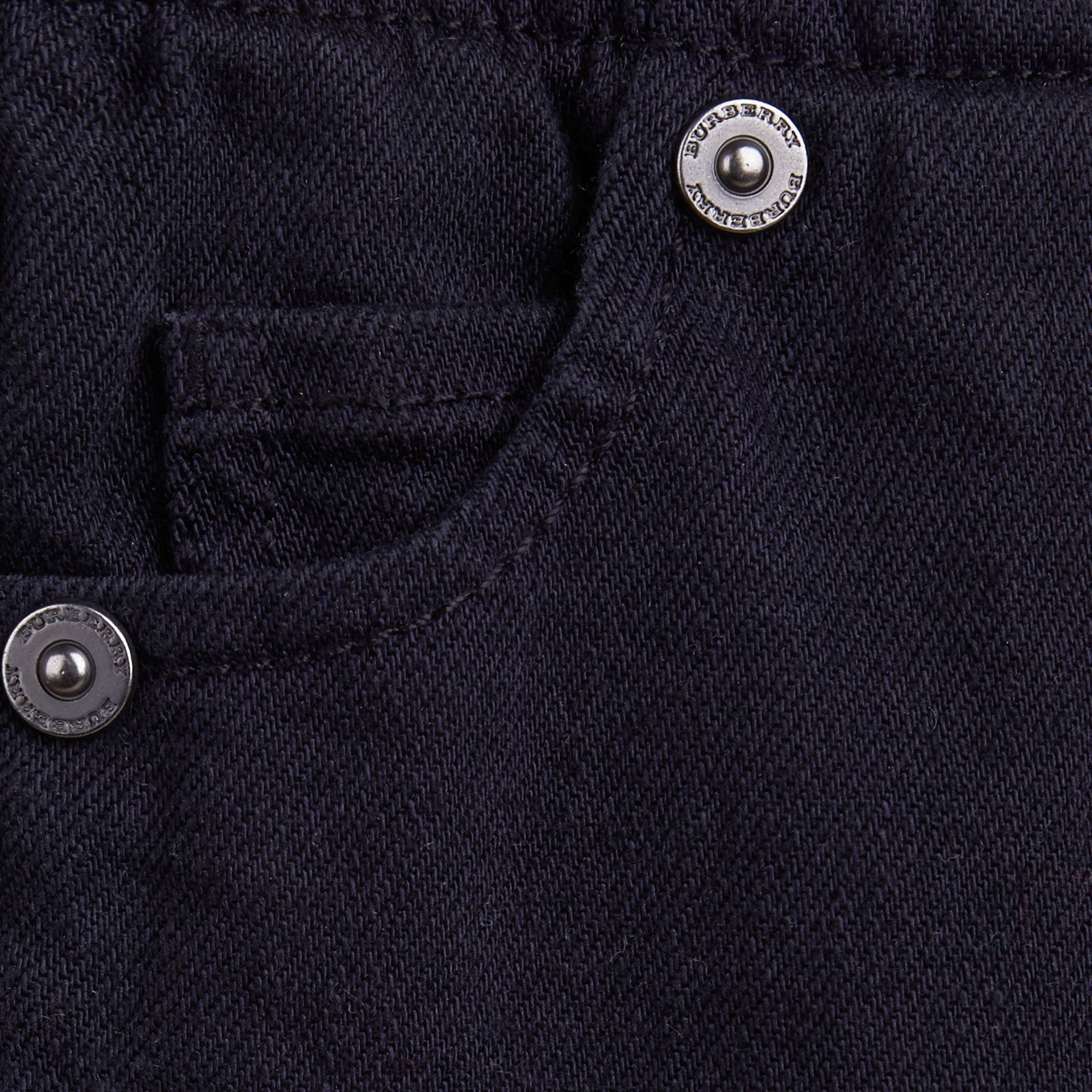Dark indigo Stretch Denim Leggings - gallery image 2