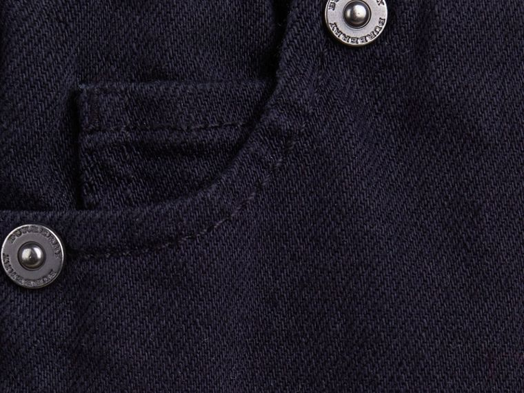 Dark indigo Stretch Denim Leggings - cell image 1